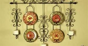 tuscan wrought iron wall candle plate holder rack With kitchen colors with white cabinets with wrought iron votive candle holders