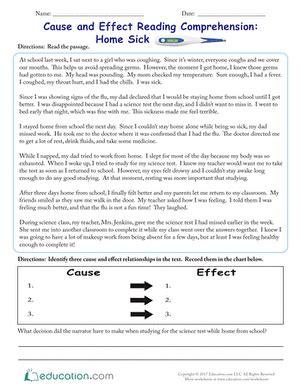 effect worksheets   grade
