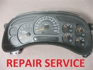 vehicle repair manual 2003 chevrolet silverado 2500 instrument cluster 2003 2005 chevrolet silverado 2500 3500 instrument gauge cluster repair 2004 06 ebay