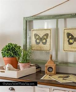 Thow to turn old window frames into botanical butterfly