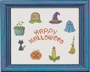 Free Cross Stitch Pattern Happy Halloween DIY 100 Ideas