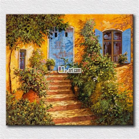 reproduction oil painting beautiful garden scenery prints