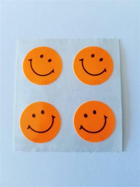 vtg sandylion stickers neon smiley faces  retired