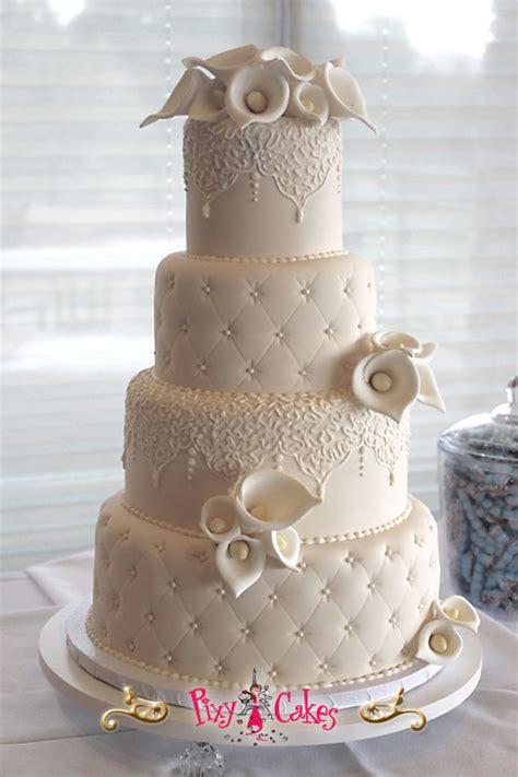 elegant white cake pixy cakes