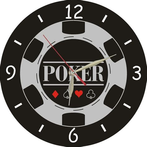 Poker Wall Clock, Wall Decor, Metal Art $2700, Via Etsy