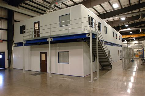 two story modular offices mezzanines platform modular