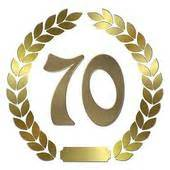 Bac 70 X 70 by 70 Anniversary Stock Illustrations Royalty Free Gograph