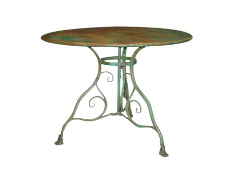 table de jardin ronde en fer forge table de jardin ronde en m 233 tal fer forg 233 arras