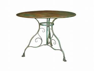 Table De Jardin En Fer : table de jardin ronde en fer ~ Dailycaller-alerts.com Idées de Décoration
