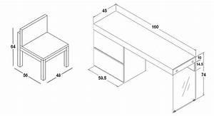 Dimension Chaise Standard : dimension bureau standard homeo textiles ~ Melissatoandfro.com Idées de Décoration