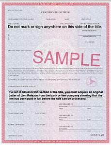 North Carolina Title Processing Information
