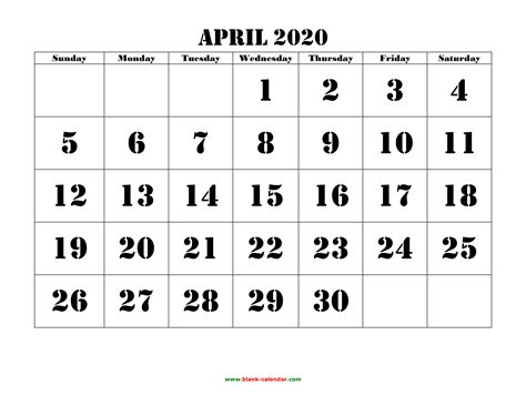 april printable calendar monthly calendar templates