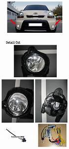 Fog Lamp Light Complete Kit Full Wiring Harness For 2009