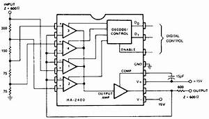 simple programmable attenuator circuit electronic With attenuator circuit
