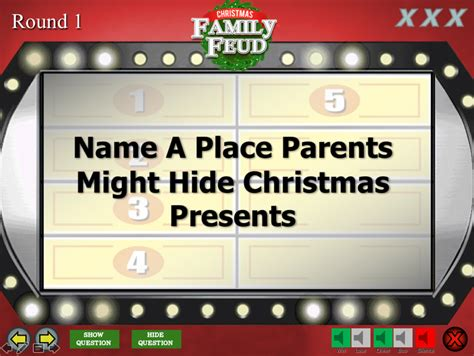 Let's start the family feud! Christmas Family Feud Trivia Powerpoint Game - Mac and PC Compatible - Youth DownloadsYouth ...