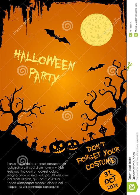 halloween invitation template editable festival collections