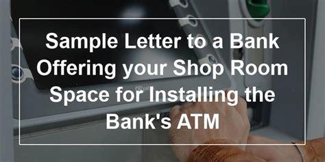 sample letter   bank offering  shop room space