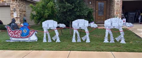 star wars homemade lawn quot merry sithmas to all and join the side quot starwars darth santa at at reindeer and