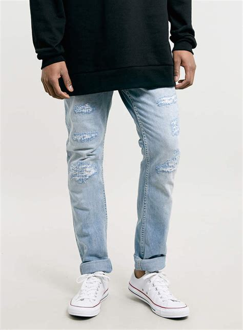 light wash skinny jeans mens topman light wash ripped skinny jeans where to buy how