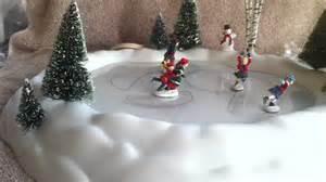 department 56 village animated skating pond youtube