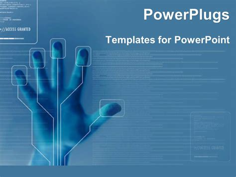 powerpoint template technology  finger printing