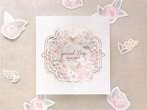 15 beautiful laser cut 3d wedding invitations to impress With 3d rose wedding invitations