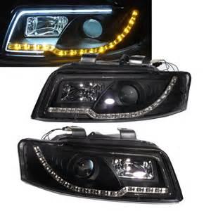 a4 s4 2001 2004 4d b6 8e projector led r8 headlight w amber black for audi