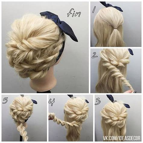 easy step  step hair tutorials  long medium