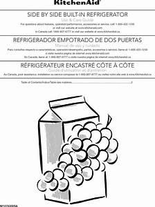 Kitchenaid Kbsd602ess00 User Manual Built In Refrigerator