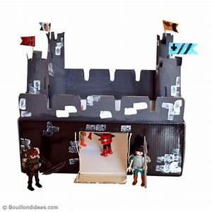 Fabriquer Un Personnage En Carton : bricolage enfant fabriquer un chateau fort en carton ~ Zukunftsfamilie.com Idées de Décoration