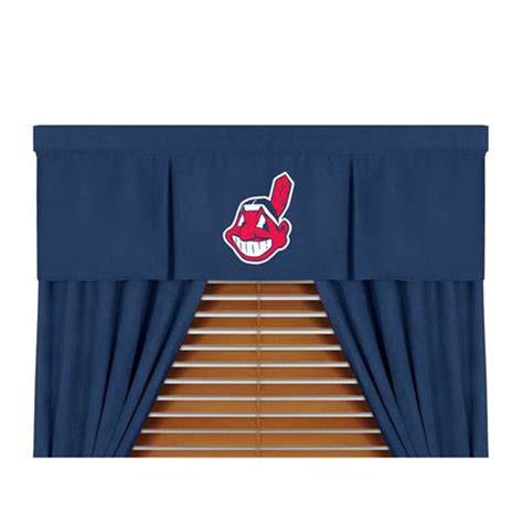 cleveland indians mlb microsuede window drapes