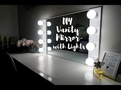 diy vanity mirror with lights 100