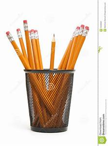 Pencil Holder Stock Image  Image Of Office  Standing