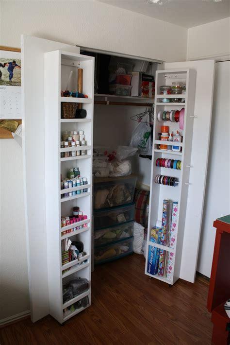 Closet Door Storage by Running With Scissors Adding Closet Storage
