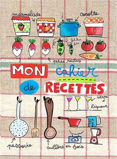 carnet de cuisine vierge carnet de recettes boulangère thème cuisine maki papier