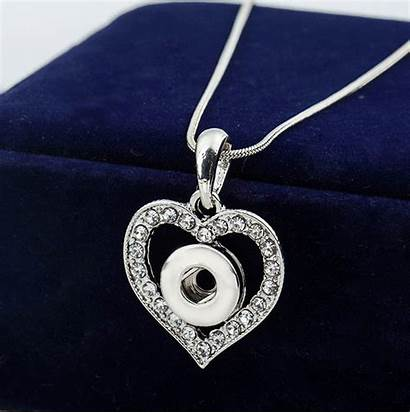 Snap Base Necklace Argent Button Mm Sterling