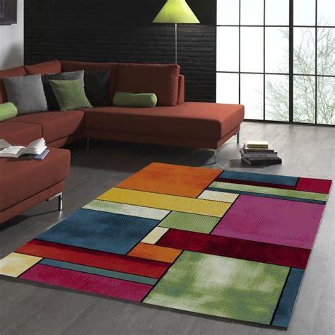 tapis de salon design geometrique belo  multicolore