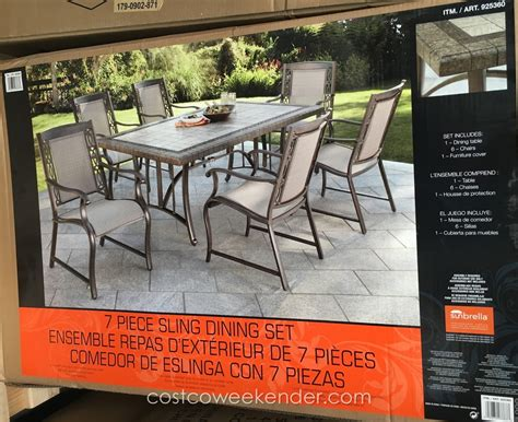 costco outdoor patio dining sets agio international 7 sling dining set costco weekender