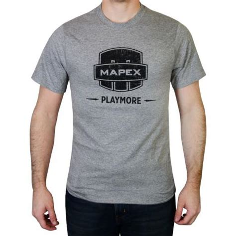 mapex gray play more drummer t shirt graypm