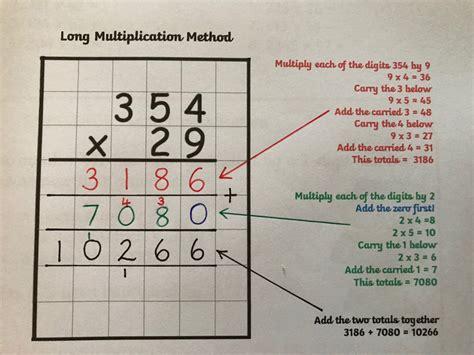 mathematics long multiplication