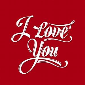 I love you red card Vector Free Download