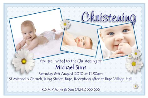 invitation card for christening blank background