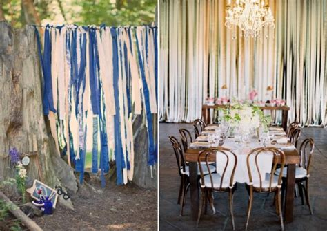 Five Ribbon Backdrop Ideas For Your Diy Wedding