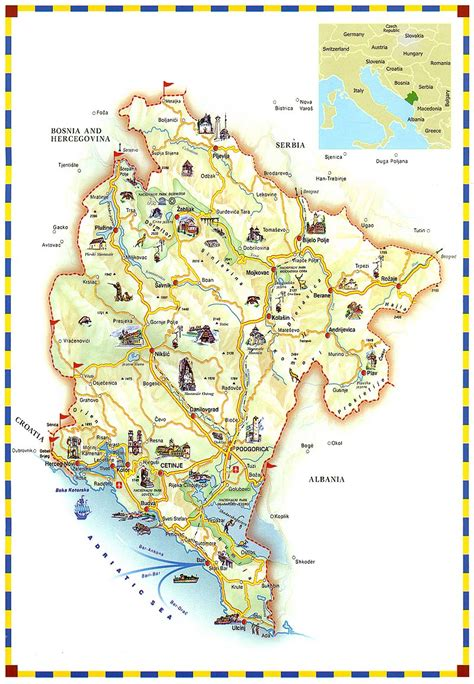 We would like to show you a description here but the site won't allow us. Travel Maps of Montenegro Coast and The Capital City Podgorica