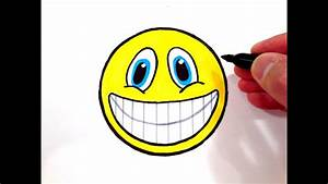 How to Draw a Smiley Face with Teeth - YouTube