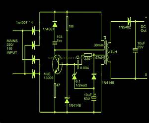 Cheapest Smps Circuit Using Mje13005
