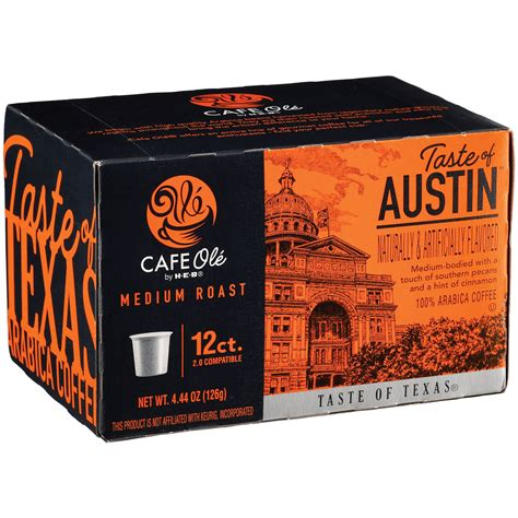 The tortilla soup and the taco salad are other pleasing ways to begin your meal. Cafe Ole by H-E-B Taste of Austin Single Serve Coffee Cups ...