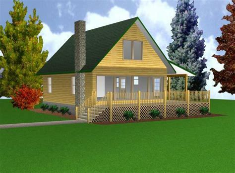 cabin wloft  plans package blueprints material list ebay