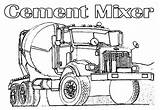 Coloring Truck Semi Cement Construction Printable Tow Trucks Fire Drawing Flatbed Vehicles Cars Boys Line Mixer Simple Clipart Finest Getdrawings sketch template