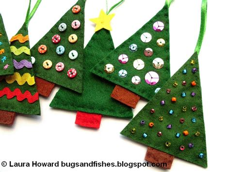 bugs and fishes by lupin how to sew easy felt tree ornaments